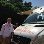 Visiting mobile medical aid in Palestine